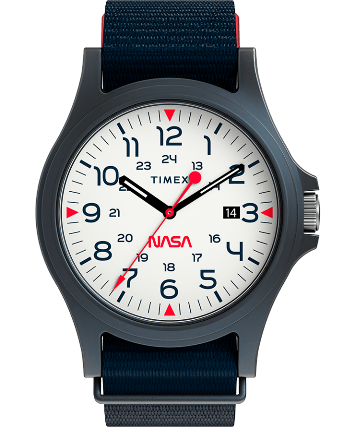 Acadia 40mm Fabric Strap Watch Featuring NASA Logo on Dial  large