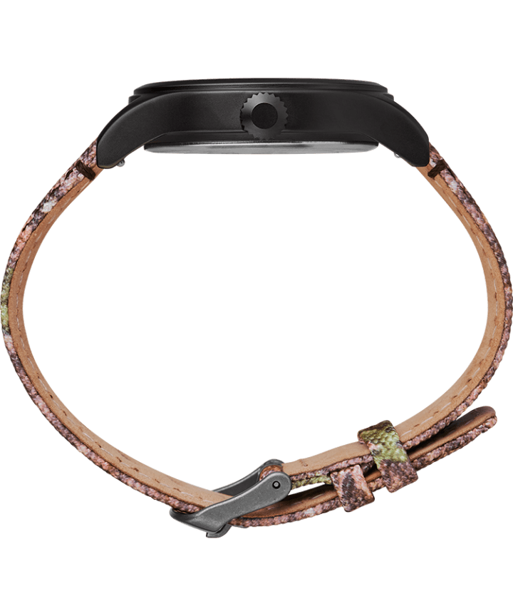 Timex Expedition Scout 40mm Fabric Strap Watch with Mossy Oak® Camo Pattern Black/Brown/Green large