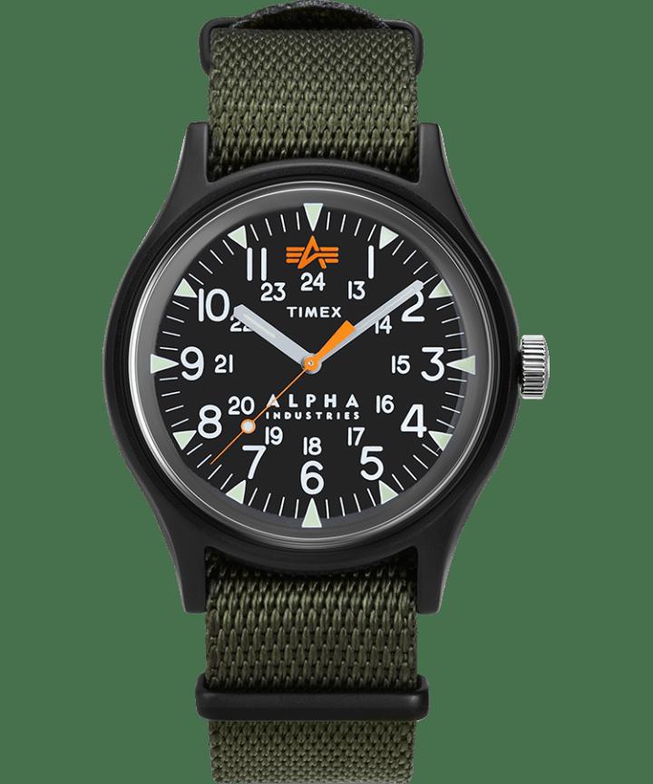 Timex x Alpha Industries 40mm Fabric Strap Watch  large