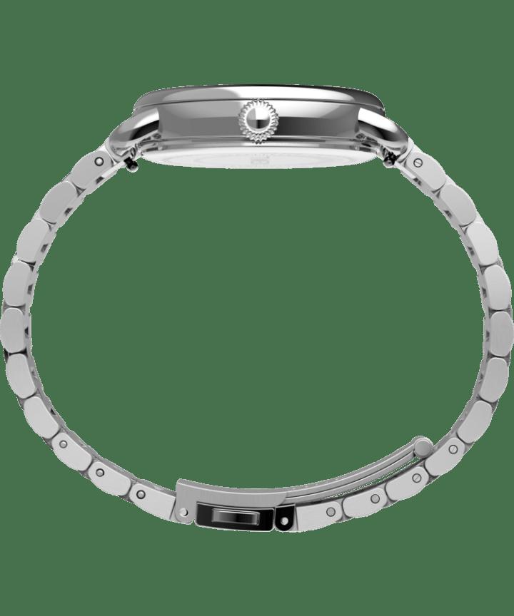 Zegarek Timex® Standard 34 mm ze stalową bransoletą Srebrny large