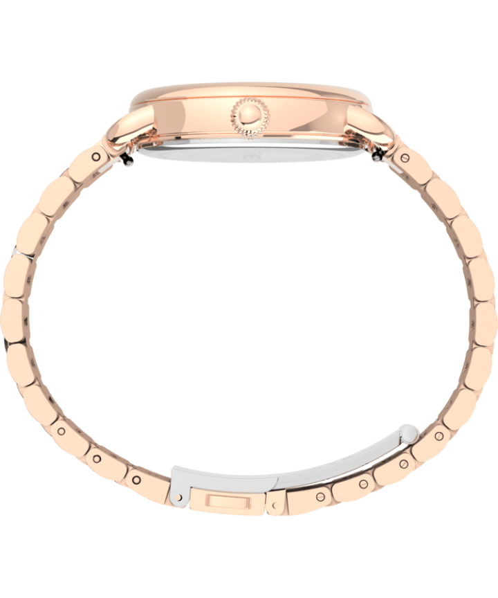 Timex® Standard 34mm Stainless Steel Bracelet Watch Rose-Gold-Tone/Silver-Tone large