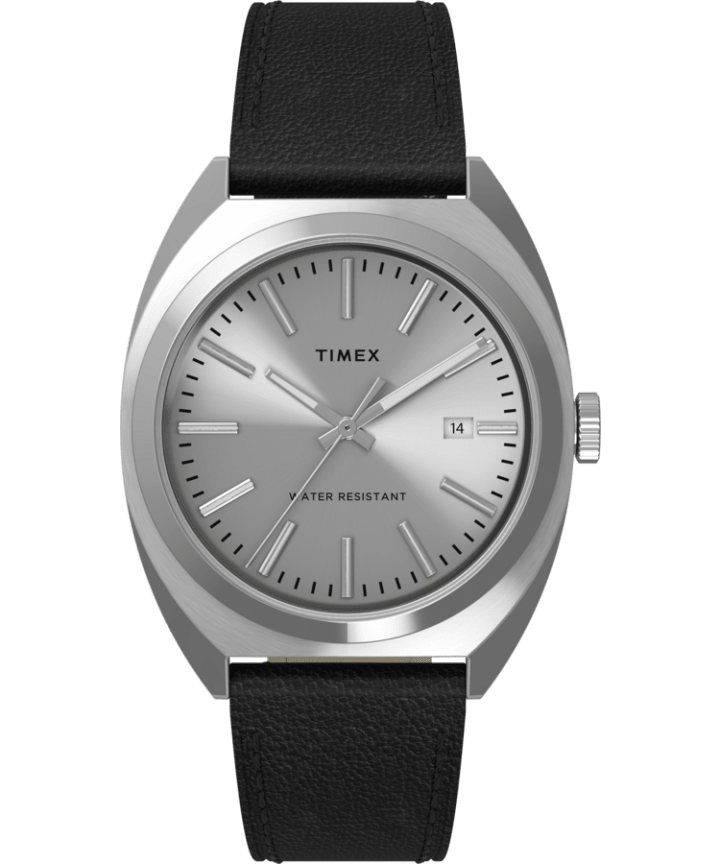 Milano XL 38mm Leather Strap Watch  large