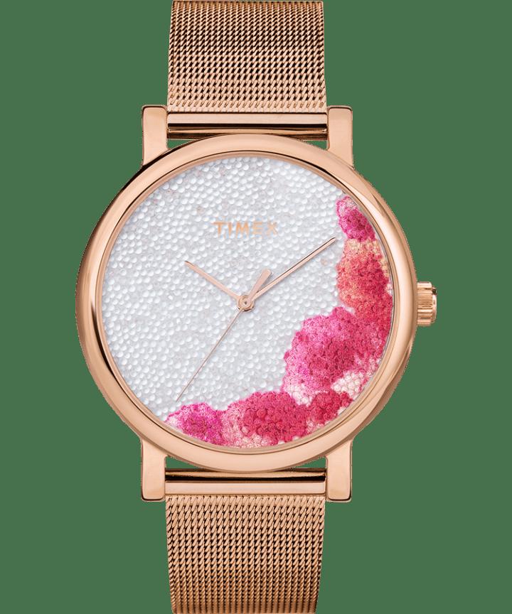 Full Bloom with Swarovski Crystals 38mm Mesh Bracelet Watch  large