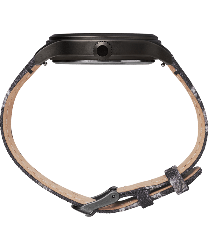 Timex Expedition Scout 43mm Fabric Strap Watch with Mossy Oak® Camo Pattern Black/Brown large