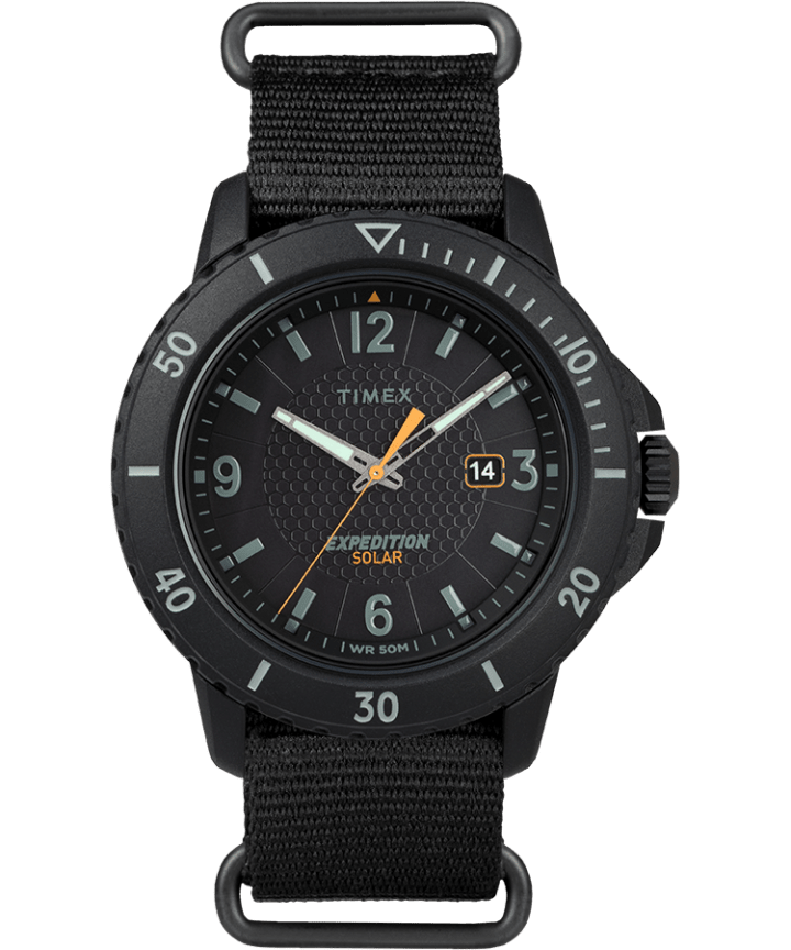 Expedition Gallatin Solar 44mm Fabric Strap Watch Black large