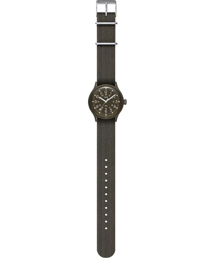 MK1 36mm Fabric Strap Watch Black/Green large