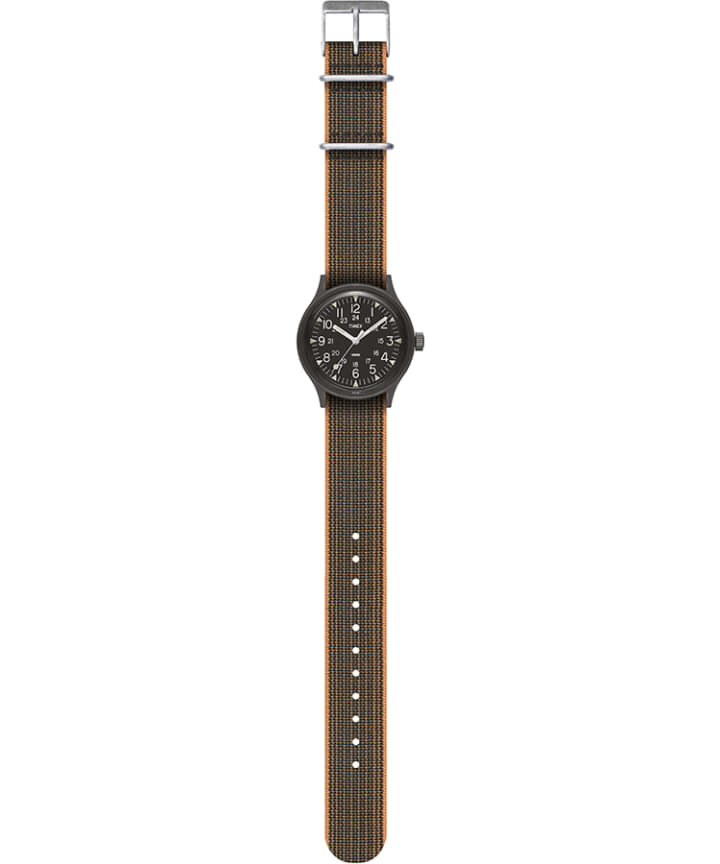 MK1 36mm Fabric Strap Watch Black large