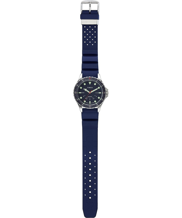 Navi Depth 38mm Silicone Strap Watch Blue/Blue large