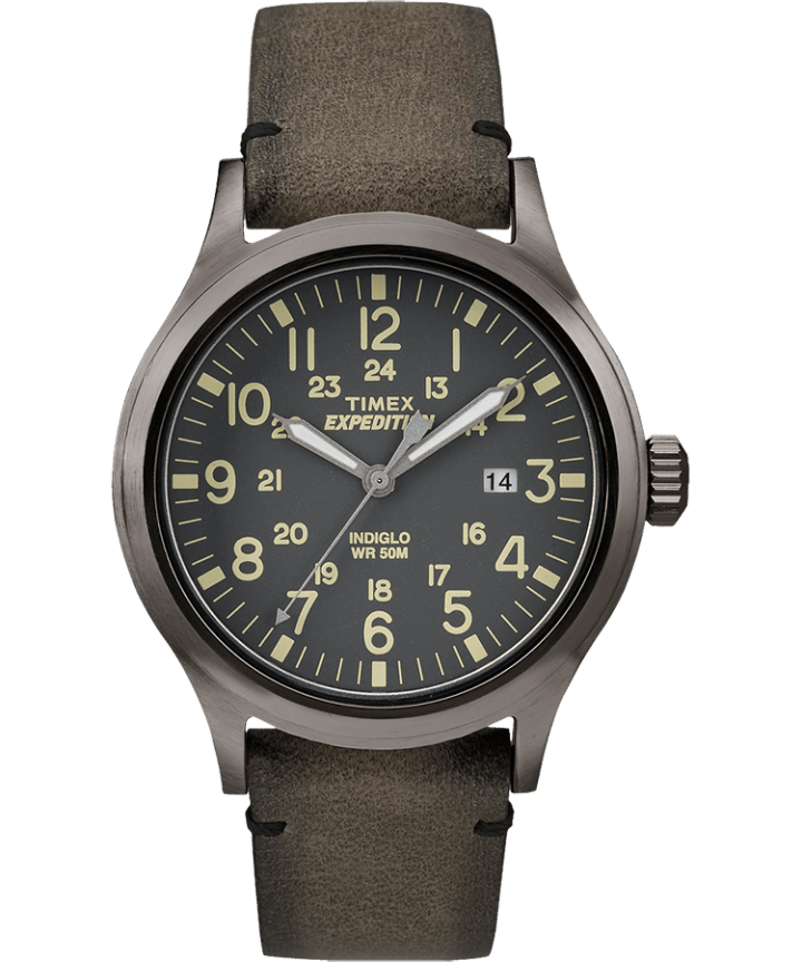 Expedition Scout 40mm Leather Watch  large