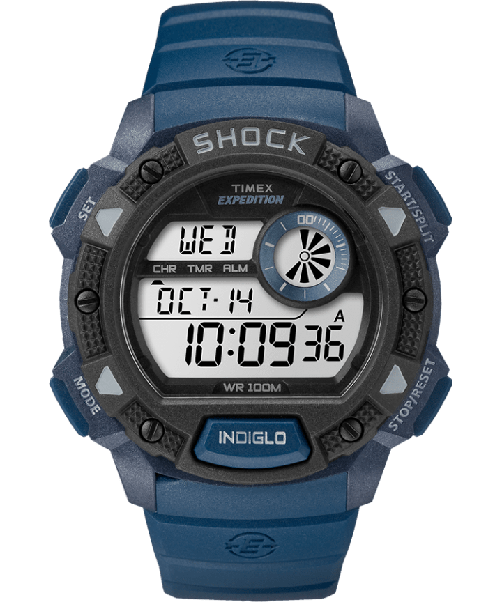 Expedition Base Shock Gauge 45mm Resin Strap Watch  large