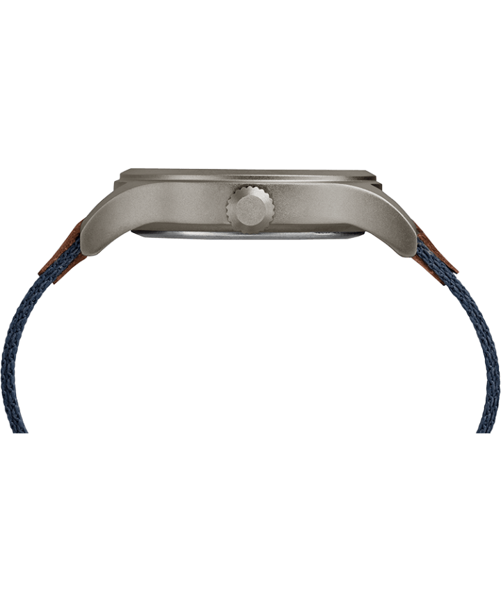 Expedition Scout 40mm Fabric Strap Watch Gray/Blue large