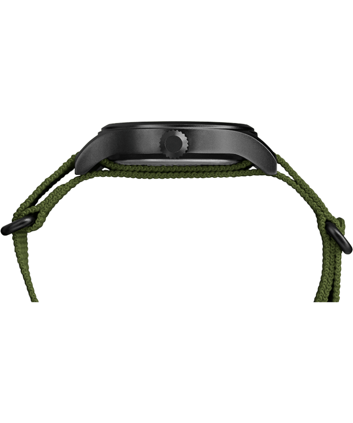 Expedition Scout 40mm Fabric Slip-Thru Strap Watch Black/Green/Natural large
