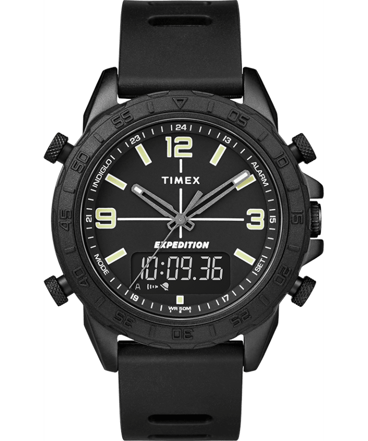 Expedition Pioneer Combo 41mm Quick Release Silicone Strap Watch  large