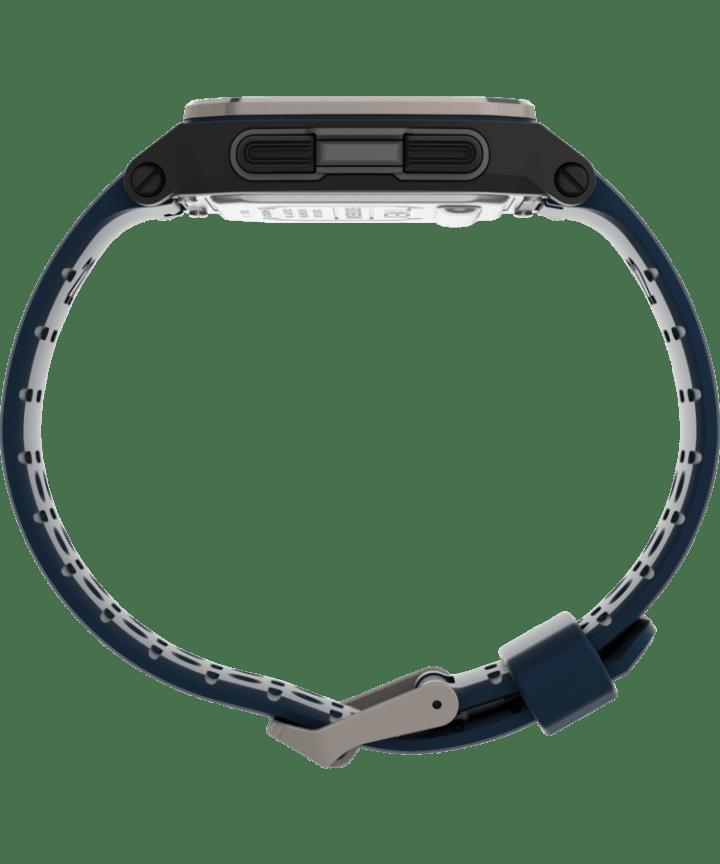 Zegarek Command Urban™ 47 mm z paskiem silikonowym Czarny/Niebieski large