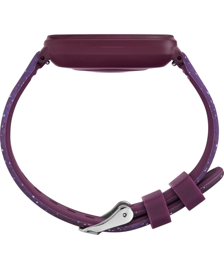 iConnect® by Timex Kids Active 37mm Resin Strap Smartwatch Purple large