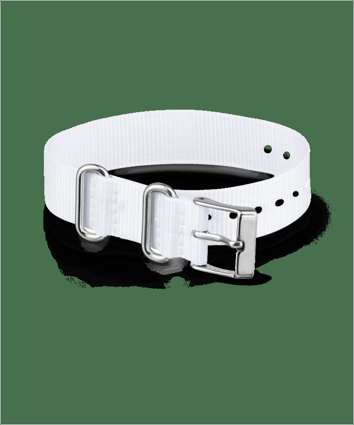 16mm Fabric Slip-Thru Single Layer Strap White large