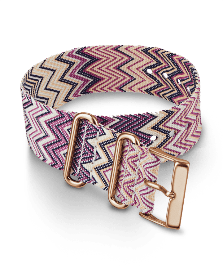 Weekender Nylon Chevron Patterned Strap  large
