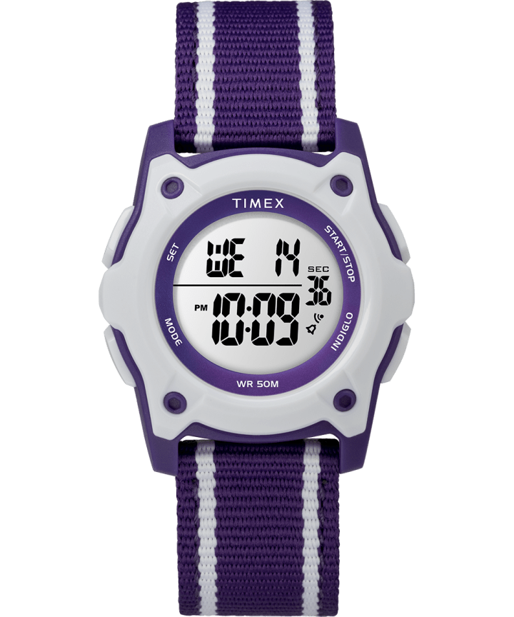 Youth Digital 35mm Double Layer Striped Nylon Strap Watch  large