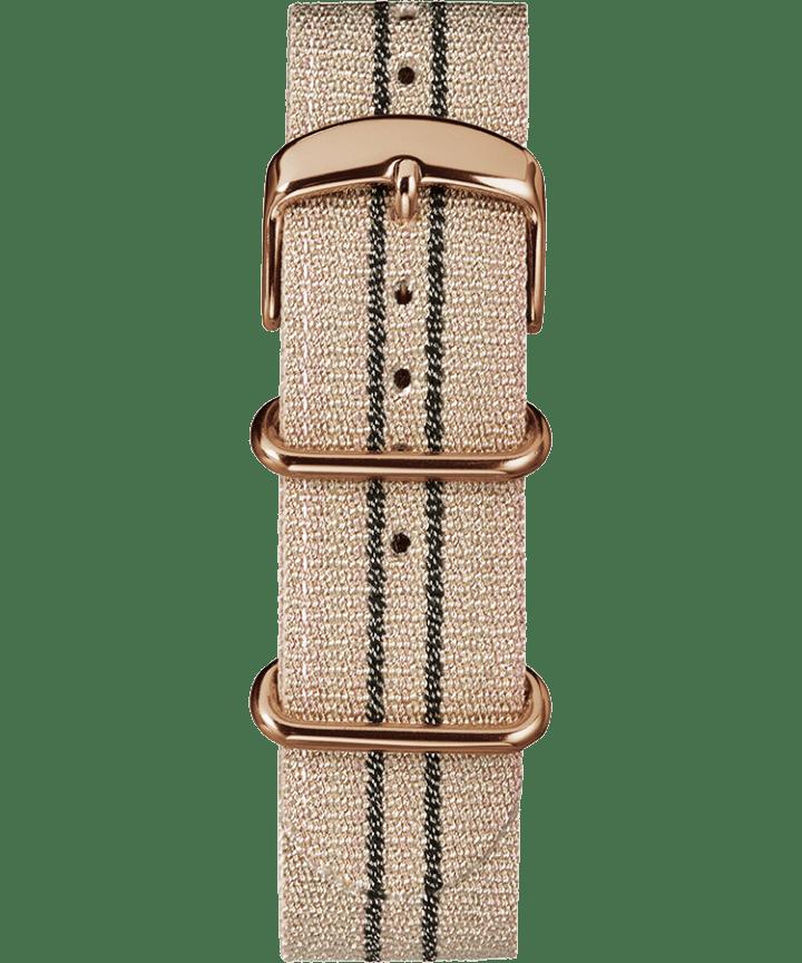20mm Metallic Stripe Woven Fabric Slip-Thru Strap Pink large