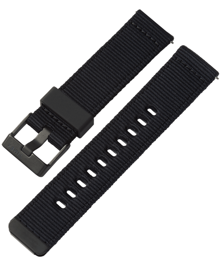 22mm Quick-Release Fabric Strap Black large