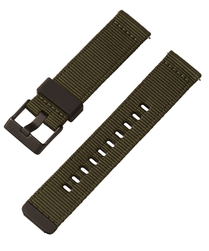 22mm Quick-Release Fabric Strap Green large