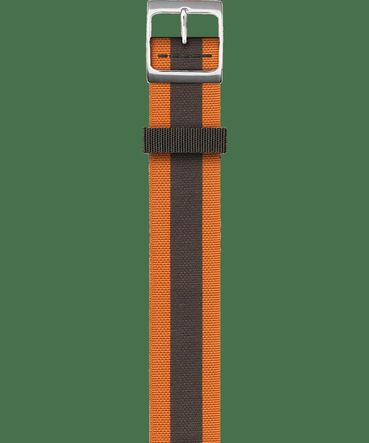 Dwustronny pasek z podwójnym splotem Pomarańczowy large