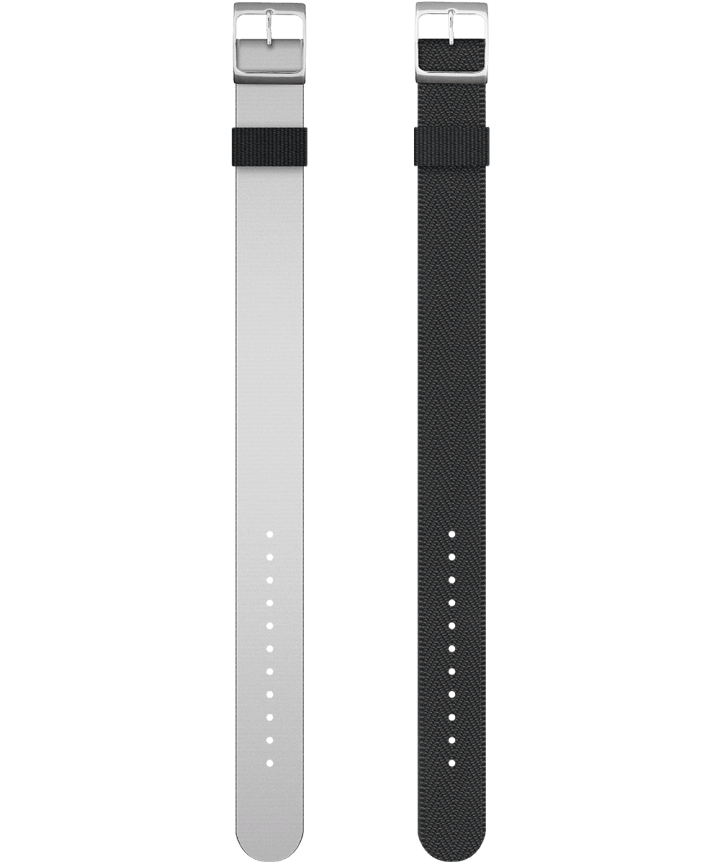 Reversible Double Weave Fabric Strap in Green and Reflective Ribbon  large