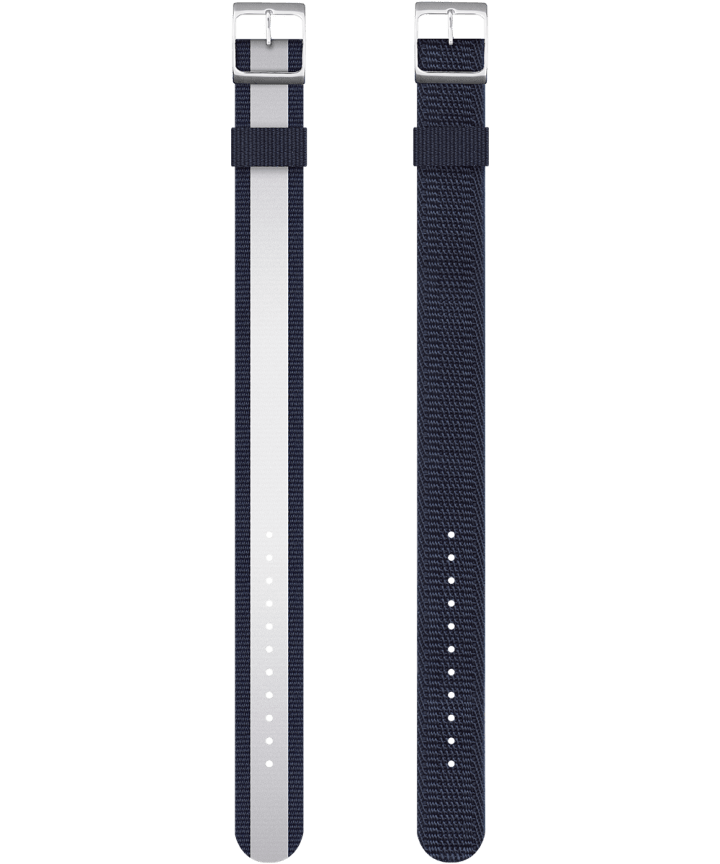 Reversible Double Weave Fabric Strap in Blue  large
