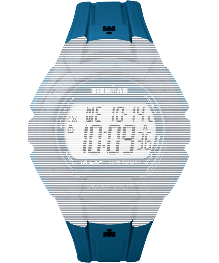 Replacement 18mm Resin Strap for Ironman® Essential 10 Full-Size Blue large