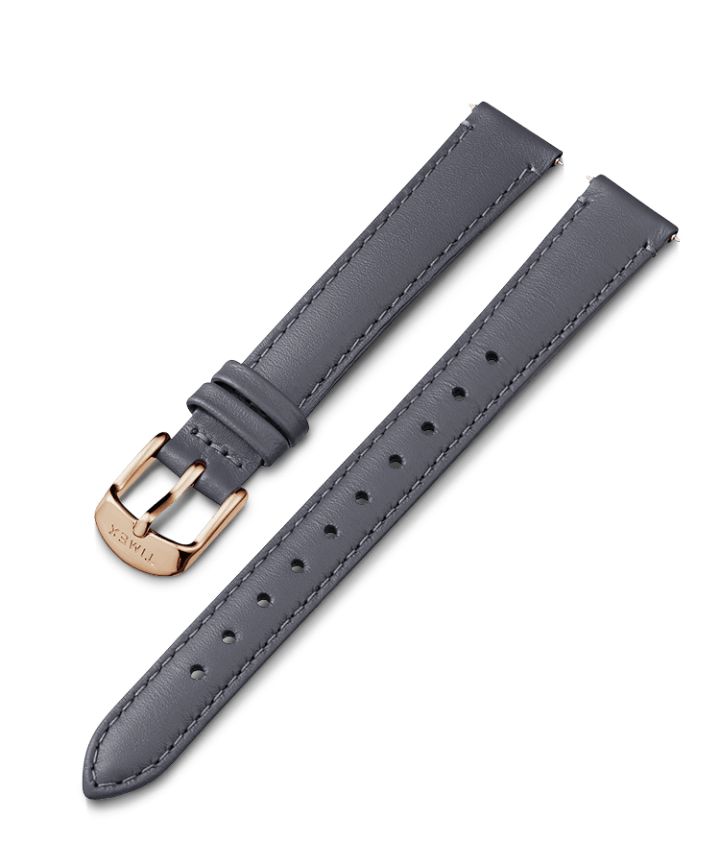 14mm Rose Gold Tone Buckle Leather Strap  large