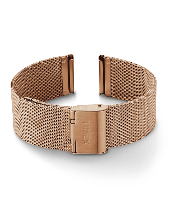 20mm Mesh Band Rose-Gold-Tone large