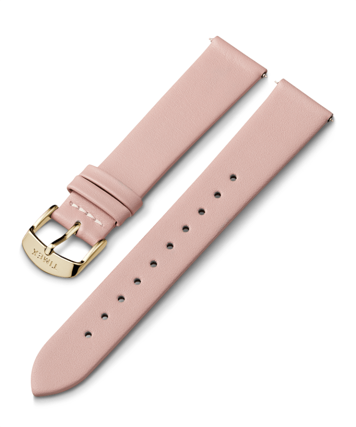 18mm Gold Buckle Leather Strap  large