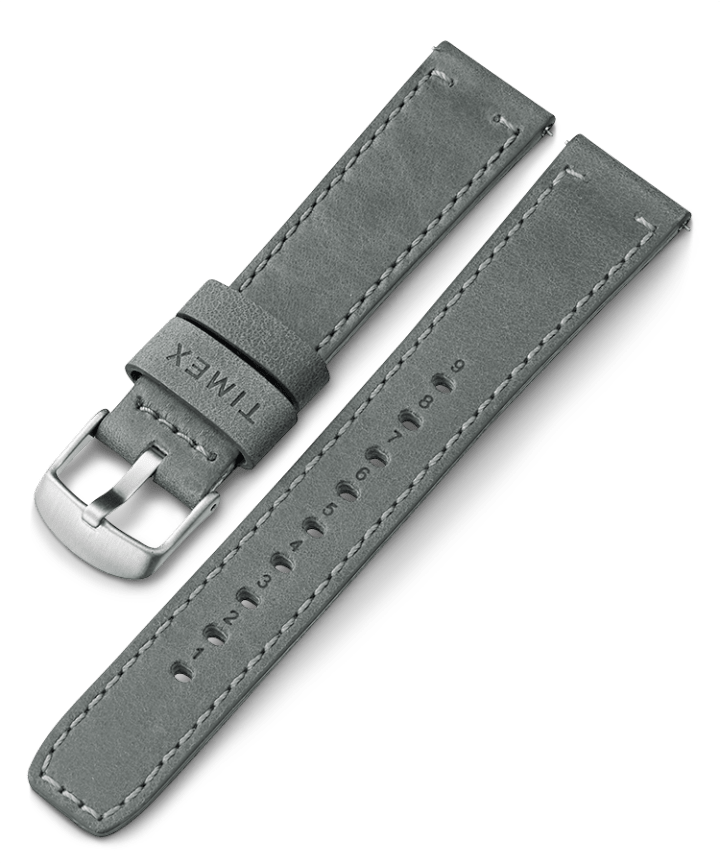 20mm Quick Release Leather Strap Szary large