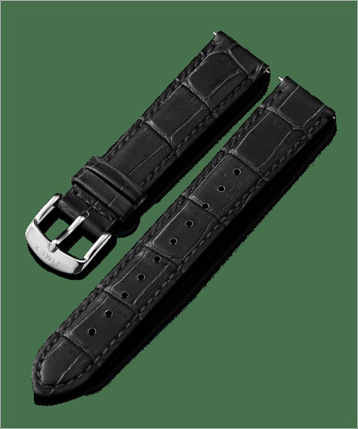 16mm Leather Strap Black large