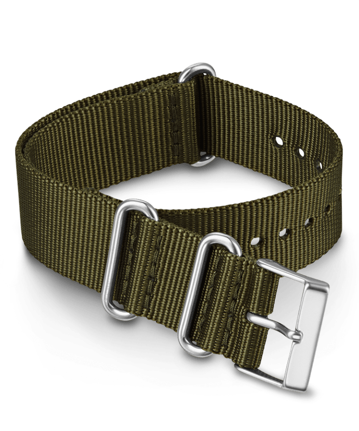 20mm Fabric Slip-Thru Double Layer Strap Green large