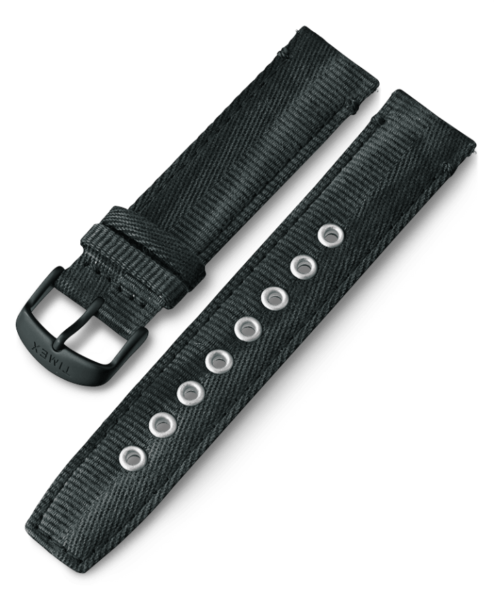 20mm Quick Release Fabric Strap Black large