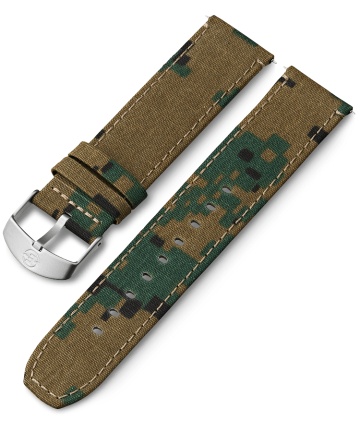 22mm Fabric Strap Green large
