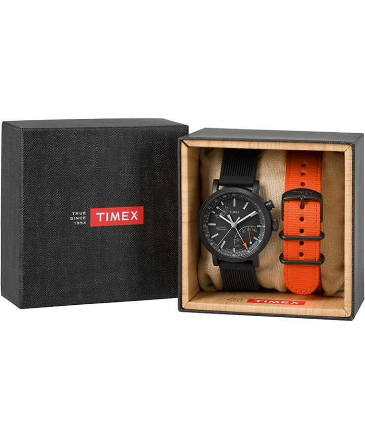 iQ+ Move Metro 42mm Gift Set with Extra Nylon Strap Black large