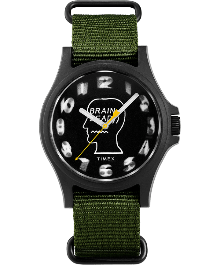 Timex x Brain Dead 40mm Fabric Strap Watch  large