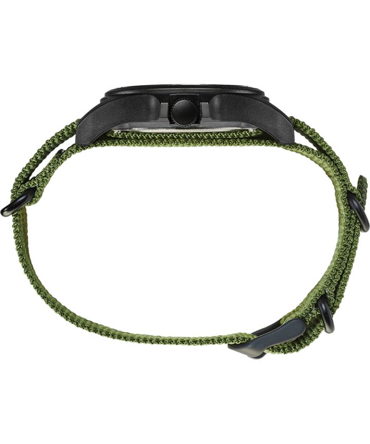 Timex x Brain Dead 40mm Fabric Strap Watch Black/Green large