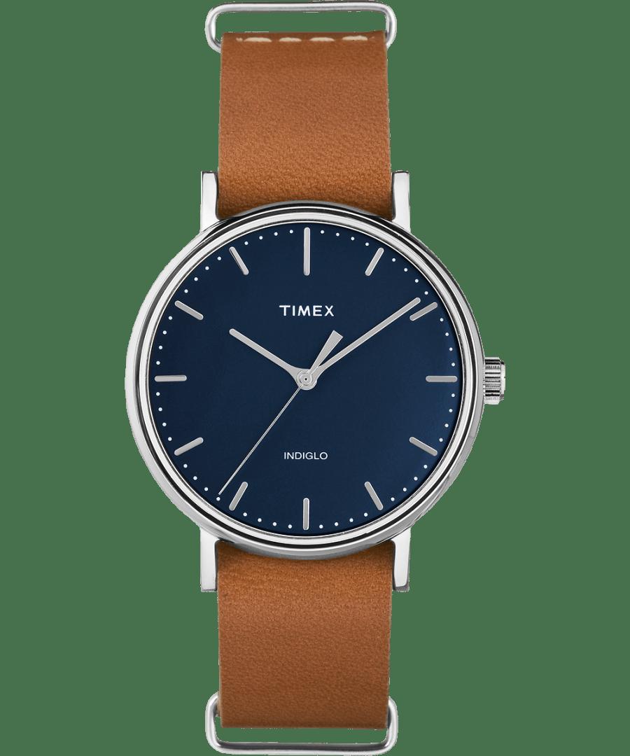 Fairfield 37mm Leather Strap Watch