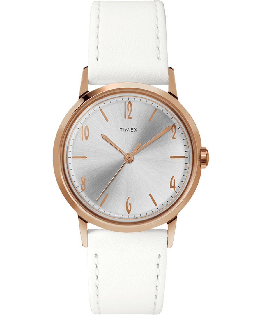 Marlin Hand-Wound 34mm Leather Strap Watch