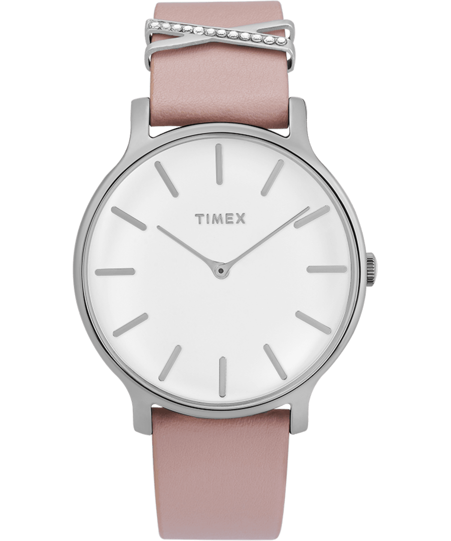 Transcend 38mm Leather Strap Watch