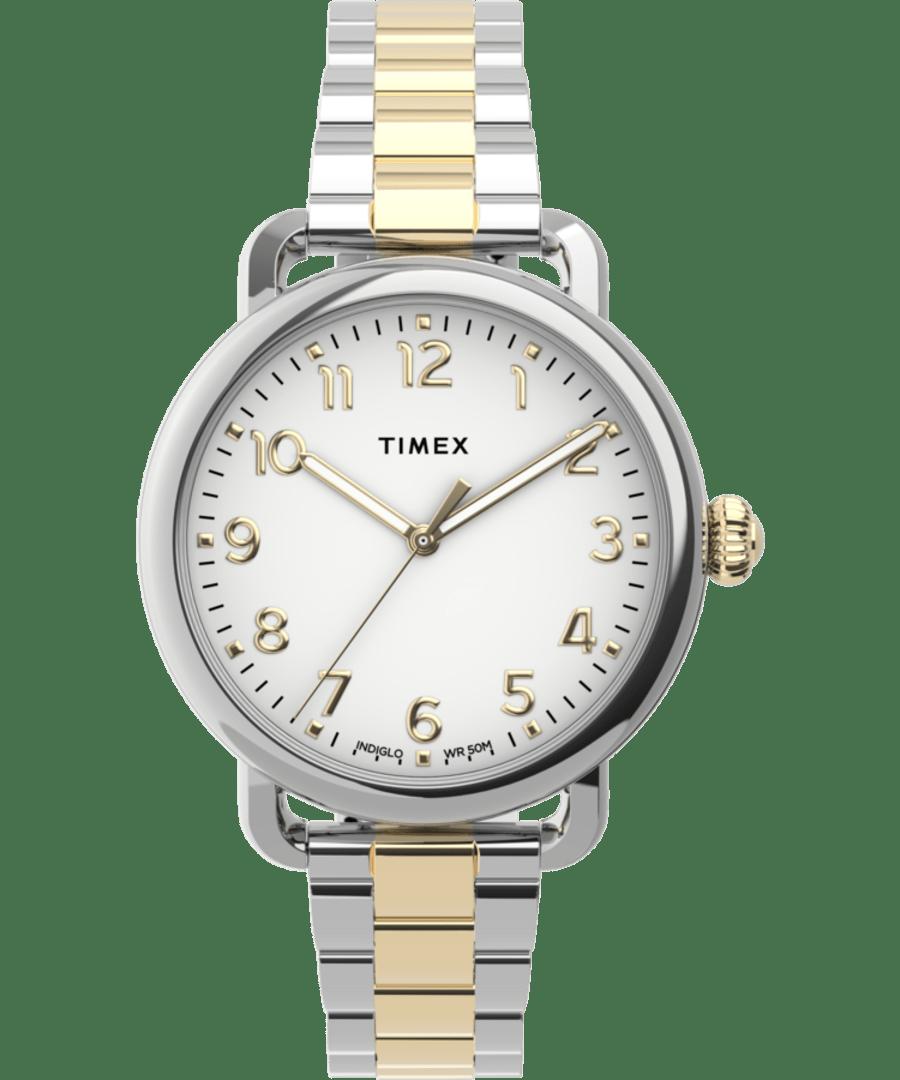 Timex Standard 34mm Stainless Steel Bracelet Watch
