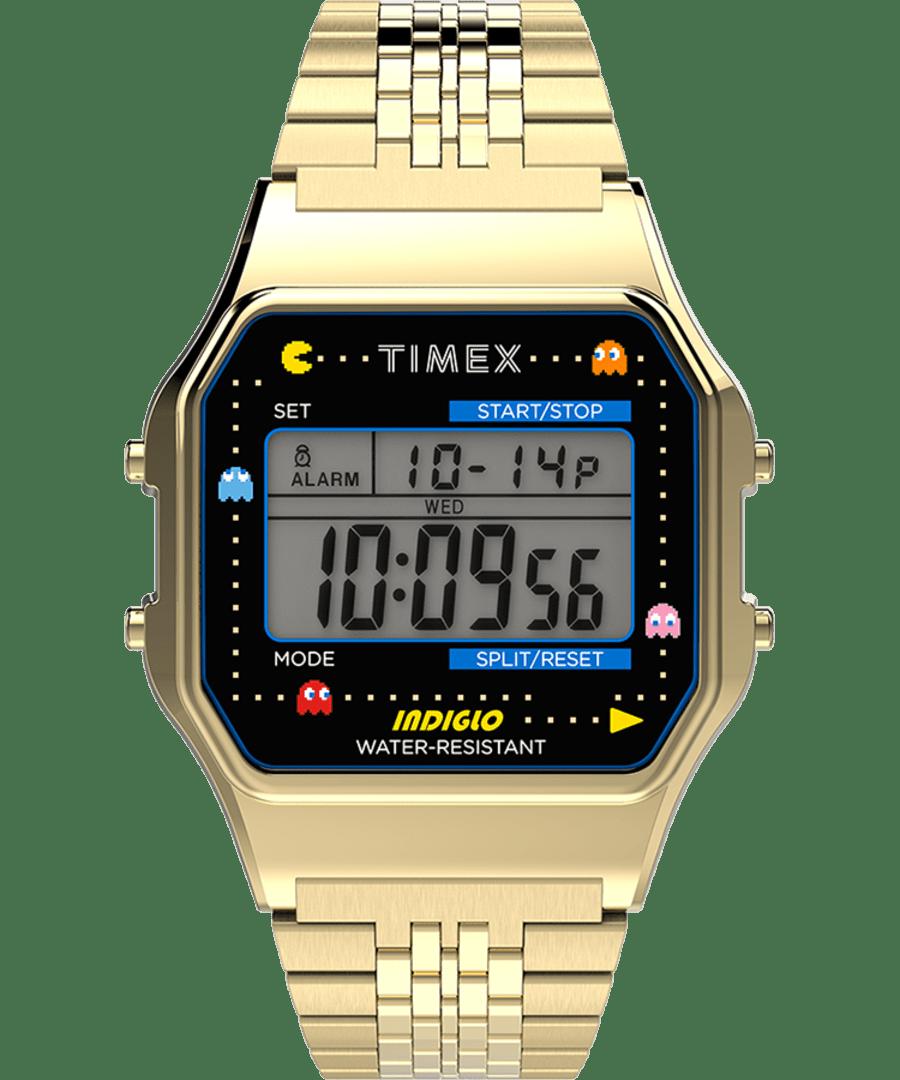 Timex Indigo Pac-Man Watch, Gold