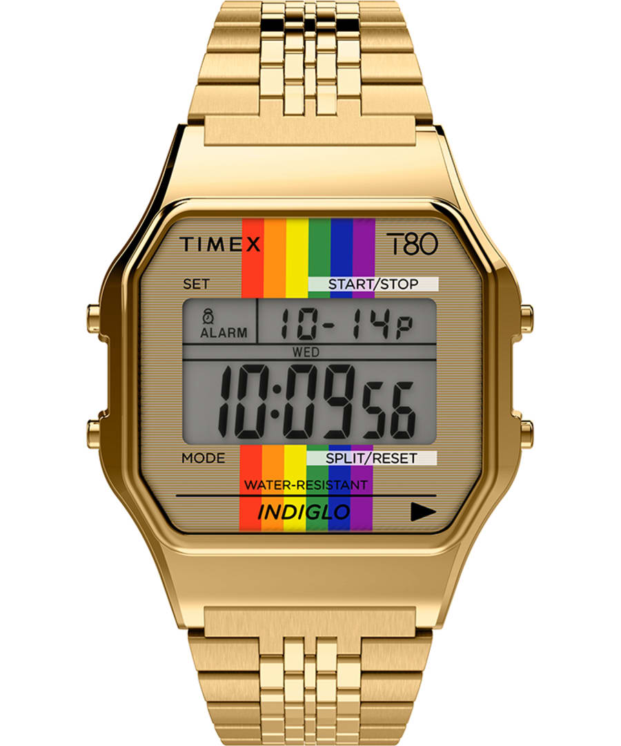 Timex T80 Rainbow 34mm Stainless Steel Bracelet Watch