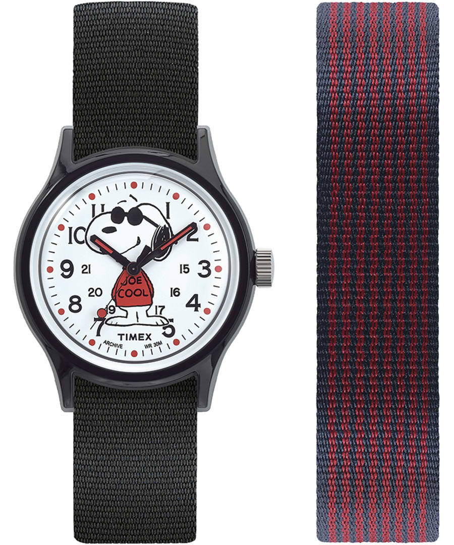 MK1 x Peanuts Featuring Snoopy 36mm Fabric Strap Watch Box Set