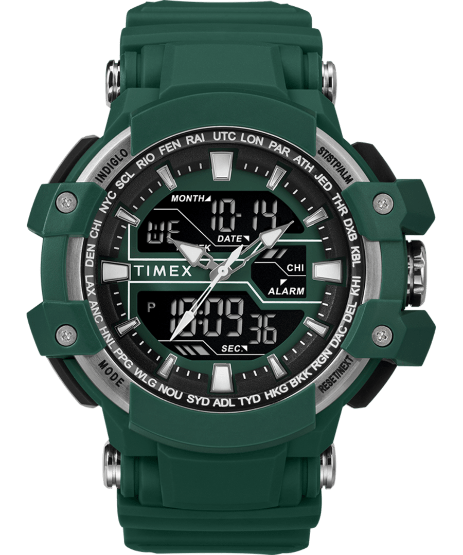 Tactic DGTL? 53MM Resin Strap Combo Watch